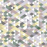 Neutral colored triangles geometric seamless pattern, vector. Background Stock Photos