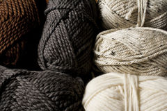 Neutral Colored Yarn Skeins Stock Photography