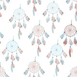Neutral  dream catcher seamless vector print Royalty Free Stock Photos
