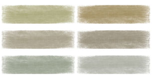 Neutral earth and grey faded grunge banner set. Isolated Royalty Free Stock Image