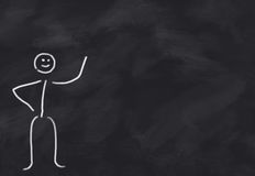 Neutral Figure. Blackboard with neutral figure, presenting something you can ad yourself Royalty Free Stock Photography