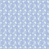 Neutral floral ornament. blue lilac tone Stock Photos