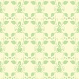 Neutral floral ornament. cool green Royalty Free Stock Photography