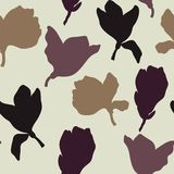Neutral Floral Silhouette Repeat Seamless Pattern Vector vector illustration