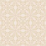 Neutral floral wallpaper. plant swirls and curves Stock Image