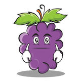 Neutral grape character cartoon collection Royalty Free Stock Photos