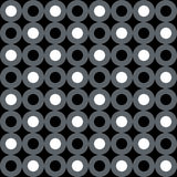 Neutral gray corporate background with circles and rings. Seamless vector pattern Vector Illustration
