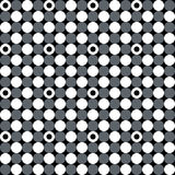 Neutral gray corporate background with circles and rings. Seamless vector pattern Stock Illustration