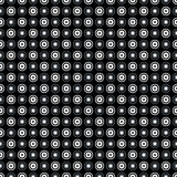 Neutral gray corporate background with circles and rings. Seamless vector pattern Royalty Free Illustration