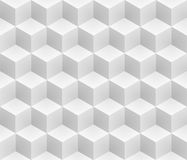 Neutral gray cubes isometric seamless pattern. vector illustration