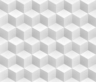 Neutral gray cubes isometric seamless pattern. Vector geometric tileable background royalty free illustration