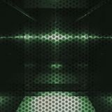 Neutral green aluminum surface with holes. Metallic geometric texture background Royalty Free Stock Image