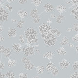 Neutral grey floral background Stock Photo