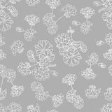 Neutral grey floral vector background Stock Image