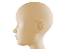 Neutral head profile Royalty Free Stock Photo