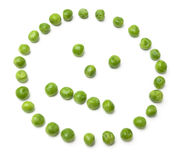 Neutral looking face from peas Royalty Free Stock Image