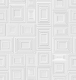 Neutral low contrasting seamless background composed of light embossed squares and rectangles, abstract vector tile. Neutral low contrasting seamless background Royalty Free Stock Photos