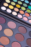 Neutral and multicolour eyeshadows palettes Royalty Free Stock Photos