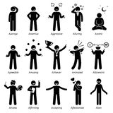 Neutral Personalities Character Traits Clipart Stock Photo