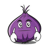Neutral red onion character cartoon Stock Images