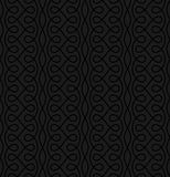 Neutral Seamless Linear Flourish Pattern for Retro Design. Royalty Free Stock Photography