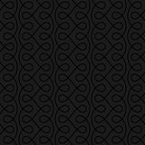 Neutral Seamless Linear Flourish Pattern for Retro Design. Stock Images