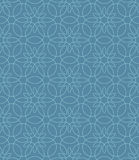 Neutral Seamless Linear Flourish Pattern. Royalty Free Stock Images
