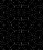 Neutral Seamless Linear Pattern. Geometric Circles Vector Backgr Royalty Free Stock Images