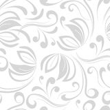 Neutral seamless pattern with swirls Royalty Free Stock Images