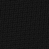 Neutral Seamless Thin Swirls Pattern. Tileable Geometric Outline Ornate. Vintage Flourish Vector Background for Retro Design Stock Image