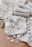 Neutral shades collection of craft items Stock Photo