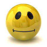 Neutral smiley stock image