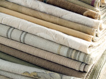 Neutral tan fabric swatches royalty free stock photo