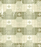 Neutral tattered textile geometric seamless pattern, decorative. Abstract infinite retro background Royalty Free Stock Image