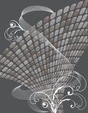 Neutrale glanzende knopenwervelingen Stock Fotografie