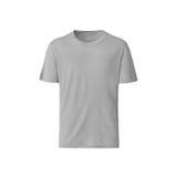 Neutrale grijze T-shirt op witte achtergrond Royalty-vrije Stock Afbeeldingen