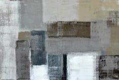 Neutraler abstrakter Art Painting Lizenzfreie Stockbilder