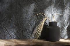 Neutralne barwione wazy, domowy wystrój fotografia royalty free