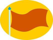 Neutralny puste miejsce flaga kolor żółty & pomarańcze Fotografia Royalty Free