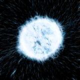 Neutrinos. Molecules black holes fury Royalty Free Stock Image