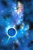 Neutron Star. A large star with concentrated matter hovers in the cosmos