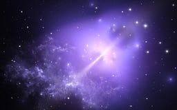 Neutronstjärna Natthimmel med massor av stjärnor vektor illustrationer