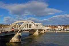 The Neuville bridge over saone river. LYON, FRANCE, March 10, 2018 : The Neuville bridge crossing the Saone river Stock Photo