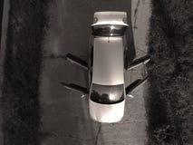 Neuwagenansicht von oben Stockbild