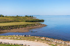 Neva bay view. (eastern part of the Gulf of Finland) in the Western Part of The Lower Park in the Peterhof State Museum Preserve, Russia Stock Photography