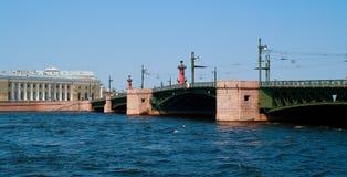 neva bridżowa rzeka Fotografia Stock