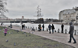 the Neva embankment Stock Images