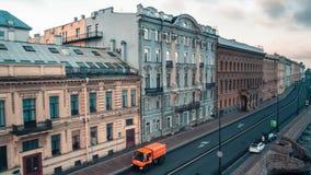 Neva Embankment Aerial View stock video