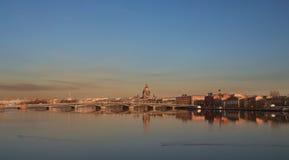 Neva flod royaltyfri fotografi