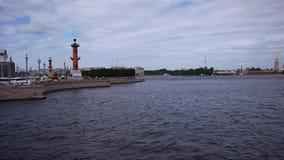 Neva-Fluss in St Petersburg stock video footage